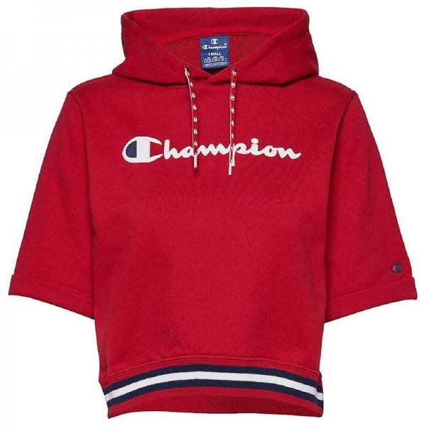 Short Sleeve Hooded Sweatshirt kurzarm Damen Kapuzen Pullover