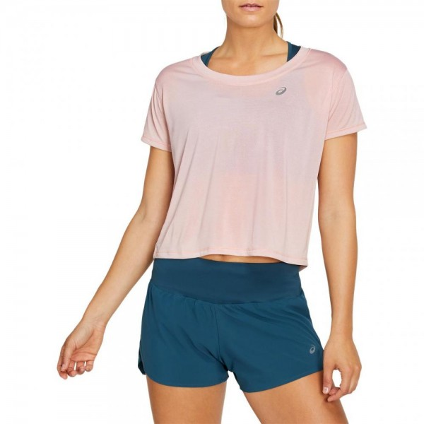 Race Crop SS Top kurzarm Damen T-Shirt