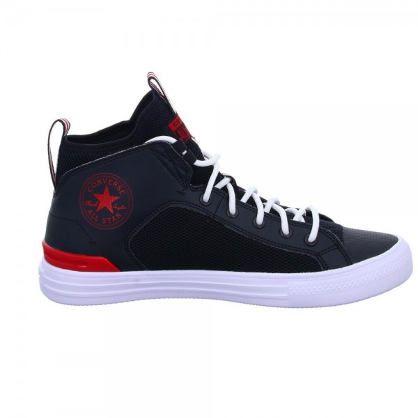CHUCK TAYLOR ALL STAR ULTRA LEATHER AND MESH - MID - BLACK/UNIVERSITY RED/WHITE