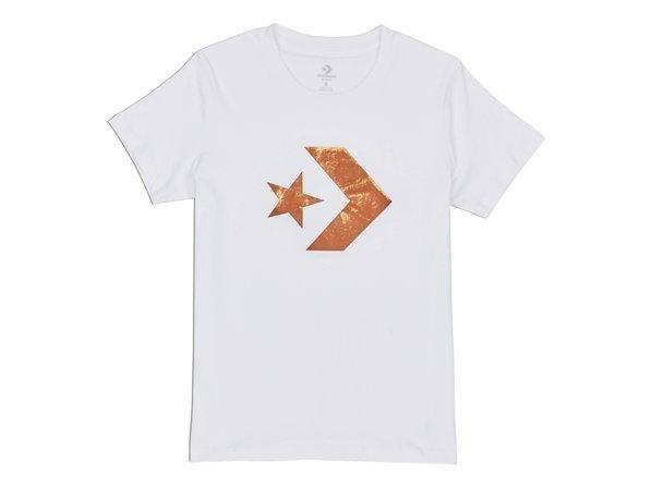Star Chevron Metallic Crew Damen T-Shirt