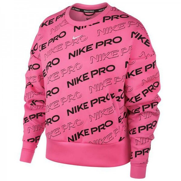 Pro Fleece Crew Print Sweater Damen Pullover