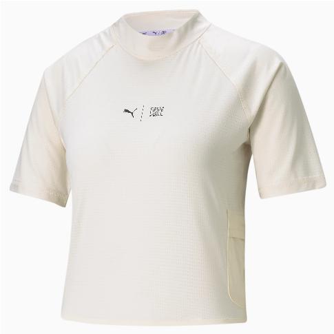 PUMA x First Mile Mock Neck T-Shirt für Damen