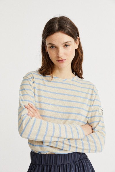 Stripe Long Sleeve Damen T-Shirt